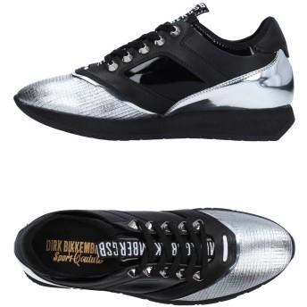 《9/20まで! 限定セール開催中》DIRK BIKKEMBERGS レディース スニーカー&テニスシューズ(ローカット) ブラック 38 革 / 紡績繊維