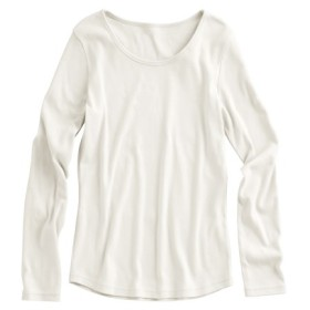 小さいサイズ 綿100%クルーネック長袖Tシャツ 【小さいサイズ・小柄・プチ】チュニック