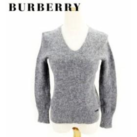 バーバリー BURBERRY ニット 服 長袖 セーター レディース Vネック 【中古】 T8202