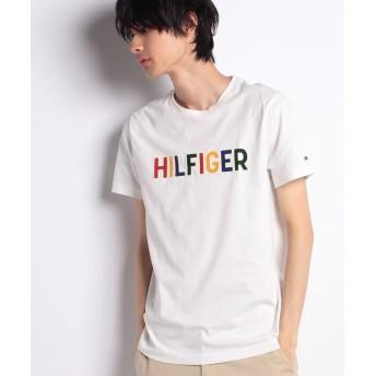 【50%OFF】 トミーヒルフィガー マルチカラーロゴTシャツ メンズ ホワイト M 【TOMMY HILFIGER】 【セール開催中】