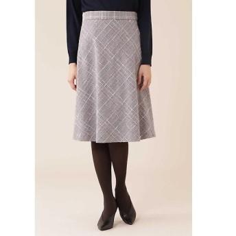 NATURAL BEAUTY / ナチュラルビューティー カラーチェックツィードスカート