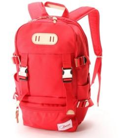 バッグ カバン 鞄 レディース リュック リュックサック カラー 「レッド」