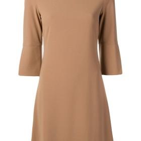 Blanca flared short dress - ブラウン
