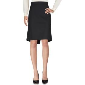 《セール開催中》VALENTINO ROMA レディース ひざ丈スカート ブラック 48 95% バージンウール 5% ポリウレタン