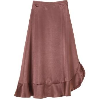 【5,000円以上お買物で送料無料】◎裾フレアスカート