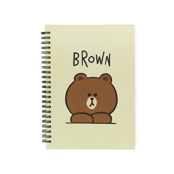 熊大 默默看著你 A5線圈筆記本