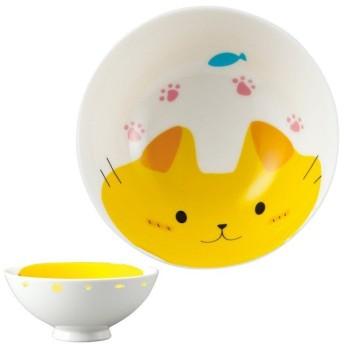 お茶碗 どうぶつシリーズ 子供 ネコ ご飯茶碗 磁器 食器 ( 子供用食器 茶碗 食洗機対応 飯碗 電子レンジ対応 お椀 )