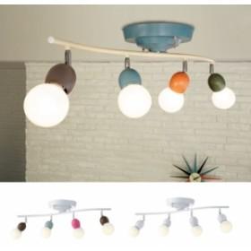 シーリングライト 001: おしゃれ 照明 E26 4灯 LED対応 照明器具 リモコン付 子供部屋 リビング