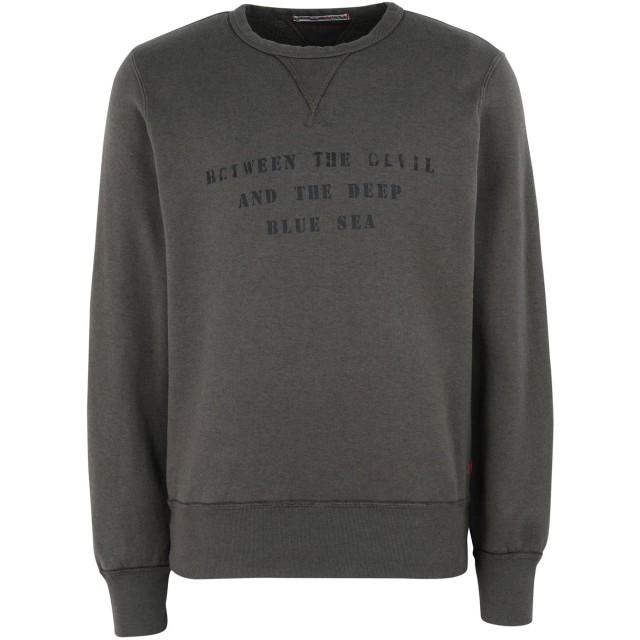 《セール開催中》REDS メンズ スウェットシャツ ミリタリーグリーン S コットン 100%