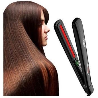THZY ヘアアイロン ストレート 遠赤外線搭載 髪を傷つけない ヘアアイロン 高速加熱 温度調節 ヘアアイロン 2way 海外対応 ヘアアイロン