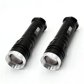 懐中電灯、ライト LED 懐中電灯 強力 超高輝度 Green Convenience ハンディライト 充電器付き 5モード SOS点滅 軍用 停電 防災対策 ズーム
