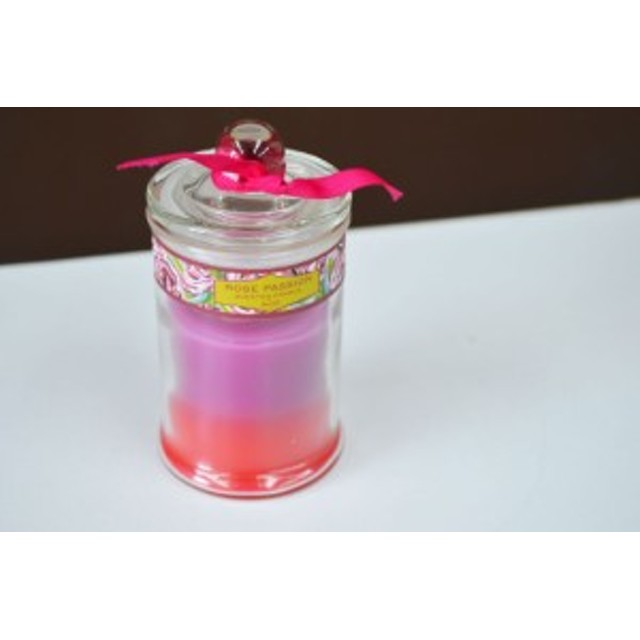 アロマキャンドル ローズの香り バラ ガラス容器入り ろうそく フレグランスキャンドル クリスマスキャンドル キャンドル