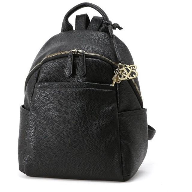 バッグ カバン 鞄 レディース リュック フェイクレザー多収納リュックサック カラー 「ブラック」