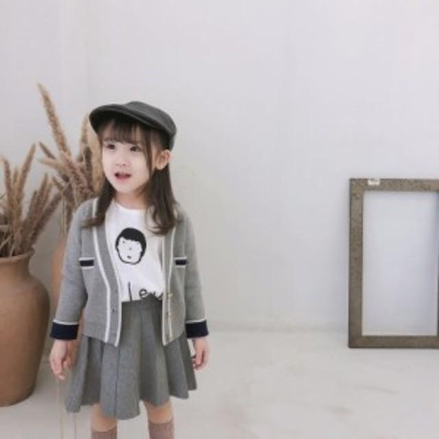 a293f3e8202f4 カーディガン&スカートセット 子供服 セットアップ 女の子 子供服 女の子 プリーツスカート 発表会 お呼ばれ