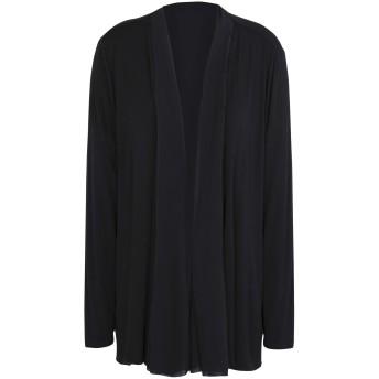 《セール開催中》DKNY レディース カーディガン ブラック XS/S レーヨン 95% / ポリウレタン 5% L/S SOLID DRAPE FRONT