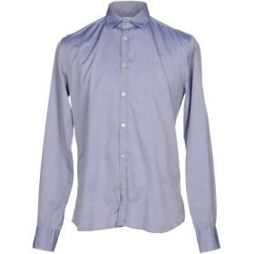 《期間限定セール開催中!》AGLINI メンズ シャツ ブルーグレー 44 コットン 100%