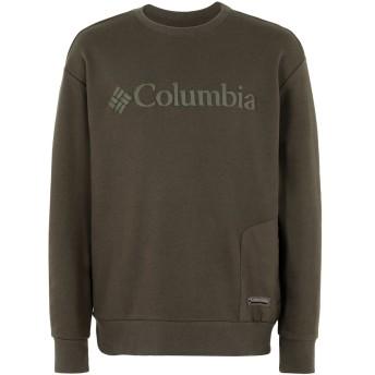 《セール開催中》COLUMBIA メンズ スウェットシャツ ミリタリーグリーン L コットン 77% / ポリエステル 23% Bugasweat Crew