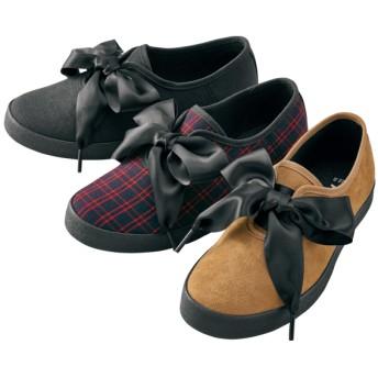 【格安-子供用靴】ジュニアリボンシューレースカジュアルスニーカー