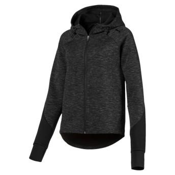 【プーマ公式通販】 プーマ EVOSTRIPE フーデッドジャケット ウィメンズ Cotton Black Heather  CLOTHING PUMA.com