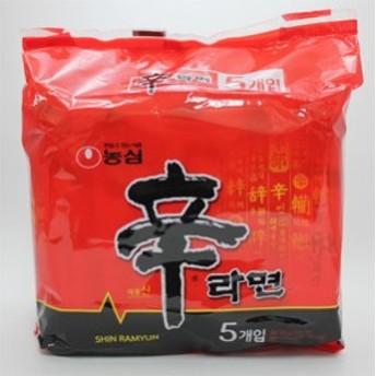 【韓国語版商品】 農心 辛ラーメン 5袋入り