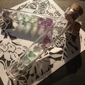 蛍石 フローライト 七色標本瓶(小さめ)