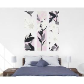 ウォールステッカー カサブランカ ピンク Sサイズ TS-0011-BS 植物 花 フラワー インテリア 日本製 ホテル インスタ映え