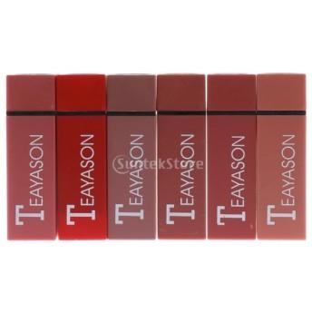 6個 リップスティック 長持ち マット ベルベット 口紅 メイク リップグロス 化粧品セット 2タイプ選べる - #1-6