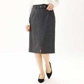 コムサモデルズ(comme ca models)/ヘリンボーンツイード ベルト付きタイトスカート