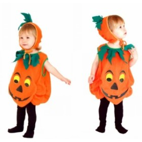 ハロウィン衣装 赤ちゃん 子供 カボチャ仮装 男の子 女の子ハロウィン特集