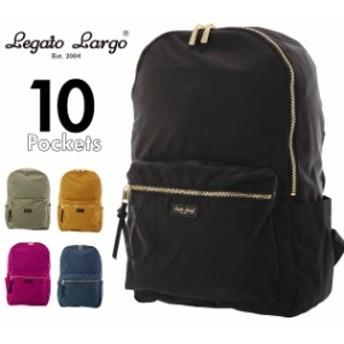Legato Largo レガートラルゴ 撥水光沢高密度ポリキャン10ポケットリュック LTC-2621