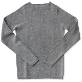 F/style エフスタイル|ホールガーメントのリブ編みウールニット/丸首