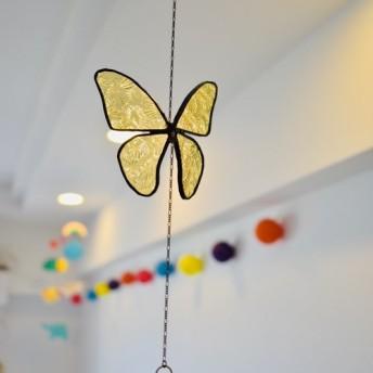 ガラスの蝶のサンキャッチャー 【受注制】