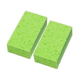 日本製 吸水 速乾 セルロース お風呂掃除 バススポンジ グリーン 2個セット