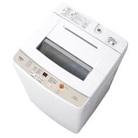 (標準設置 送料無料) アクア 6.0kg 全自動洗濯機 ホワイト AQUA AQW-S60G-W 返品種別A