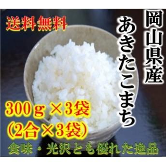 ポイント消化 送料無料 300 g 食品 米 お試し あきたこまち300g(2合)×3袋 1kg未満 アキタコマチ まとめ買い