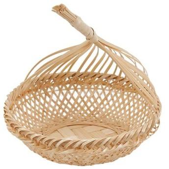 自然 竹 パン バスケット エッジ 美しい デザイン ストレージ フルーツ 野菜 バスケット 全3種選べる - #1, S
