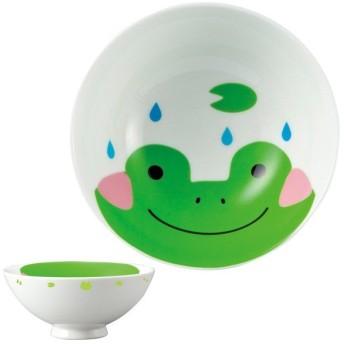 お茶碗 どうぶつシリーズ 子供 カエル ご飯茶碗 磁器 食器 ( 子供用食器 茶碗 食洗機対応 飯碗 電子レンジ対応 お椀 )