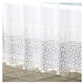 【送料無料!】トルコ刺繍クロッシェ裾レースカーテン レースカーテン・ボイルカーテン