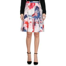 《セール開催中》PHILOSOPHY di ALBERTA FERRETTI レディース ひざ丈スカート レッド 40 コットン 97% / 指定外繊維 3%