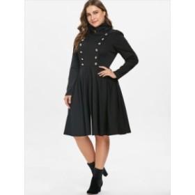 【L~5XL】大きなサイズ パーティー ドレス 秋 冬 ハロウィン ロングスリーブ 70147