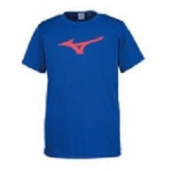 ミズノ ビッグロゴTシャツ サーフブルー×レッド XSサイズ 32JA815525-XS