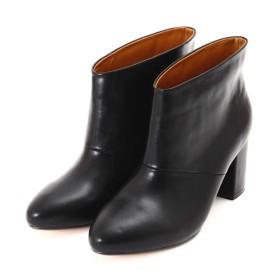 【公式/NATURAL BEAUTY BASIC】オーバーラウンドショートブーツ/女性/靴・ブーツ/クロ/サイズ:23.5/(甲皮の使用材)合成皮革(底材の種類)合成底