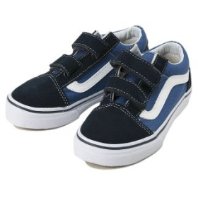キッズ 【VANS】 ヴァンズ OLD SKOOL V オールドスクール V VN000VHENWD NAVY/TRUE WHITE 16cm(11)