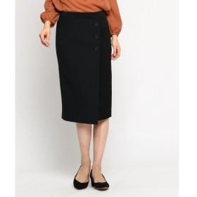 INDIVI 3つボタンタイトスカート