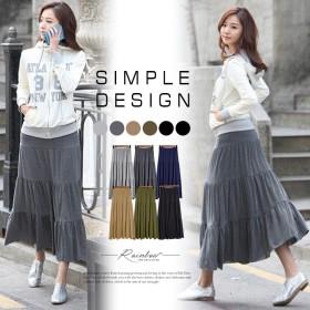 ●全6色!3段切り替えロングスカート 軽やか。やっぱり今年もモード綿がスキ。