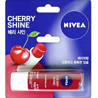 NIVEA Lip Care フルティーシャイン チェリー4.8g [海外直配送] ★追跡可能★