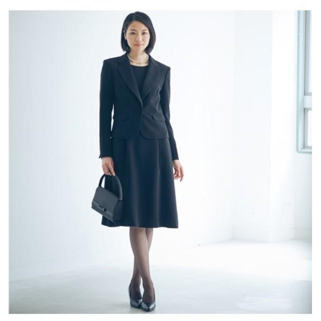 ニッセン テーラードジャケット+セミフレアタック入ワンピース アンサンブル