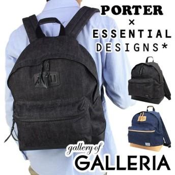 エッセンシャルデザインズ×ポーター バッグ リュック デイパック リュックサック ESSENTIAL DESIGNS×PORTER デニム×レザーシリーズ E1332801