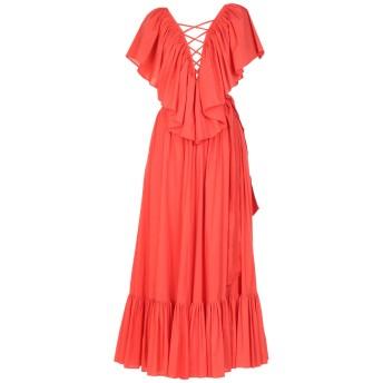 《セール開催中》RALUCA MIHALCEANU レディース ロングワンピース&ドレス オレンジ S コットン 70% / ナイロン 30%