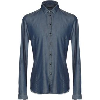 《期間限定セール開催中!》PATRIZIA PEPE メンズ デニムシャツ ブルー 50 テンセル 100%